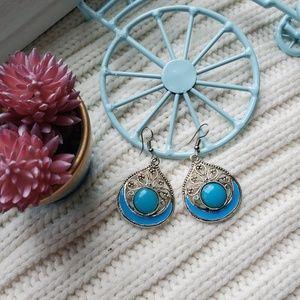 UNIQUE..Blue darling earrings